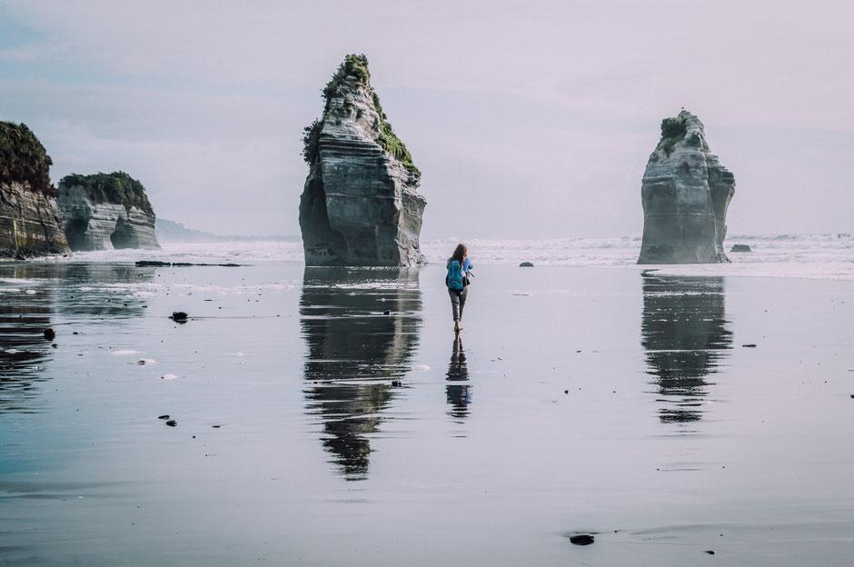 Three sisters and Elephant rock. North Island, New Zealand