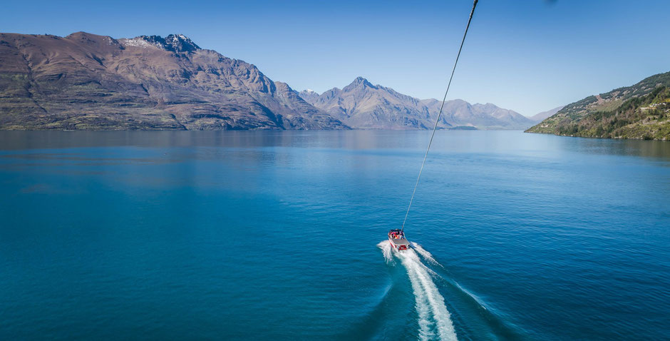 Parasailing in Queenstown, New Zealand