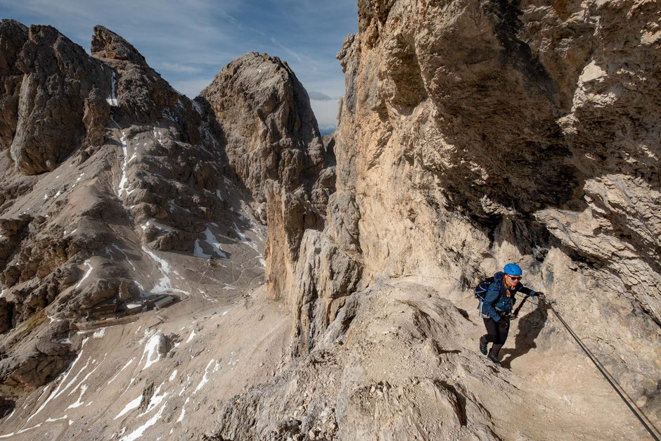 Via Ferrata Catinnacio D'Antermoia. Great beginner ferrata in the Italian Dolomites