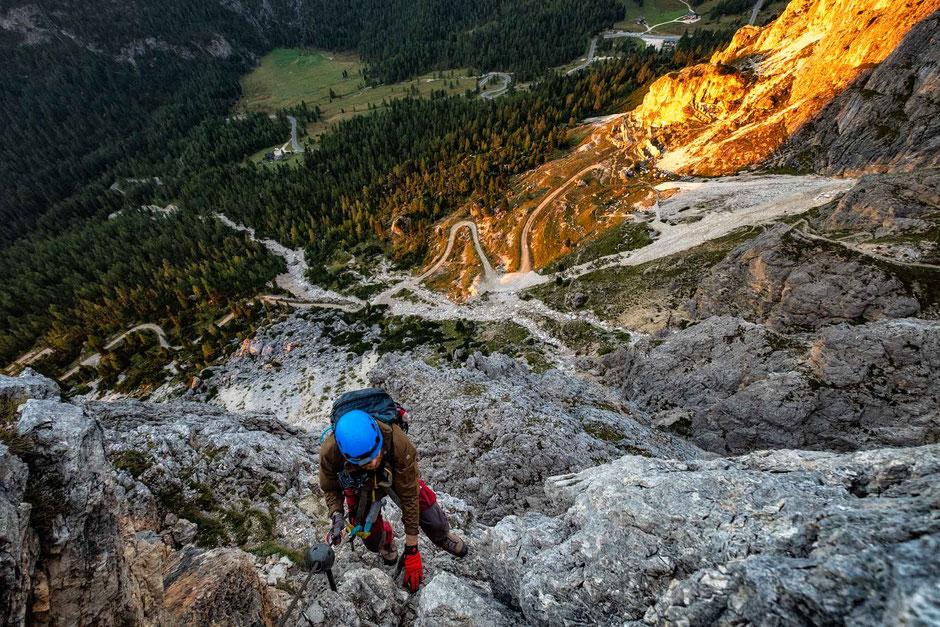 via ferrata Degli Alpini Al Col Dei Bos near Cortina D'Ampezzo