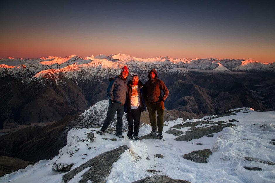 Queenstown, Ben Lomond and Bowen Peak seen from Cecil Peak. New Zealand
