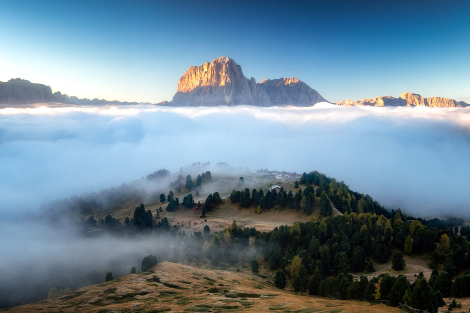 Puez Geisler Nature Park in the Italian Dolomites