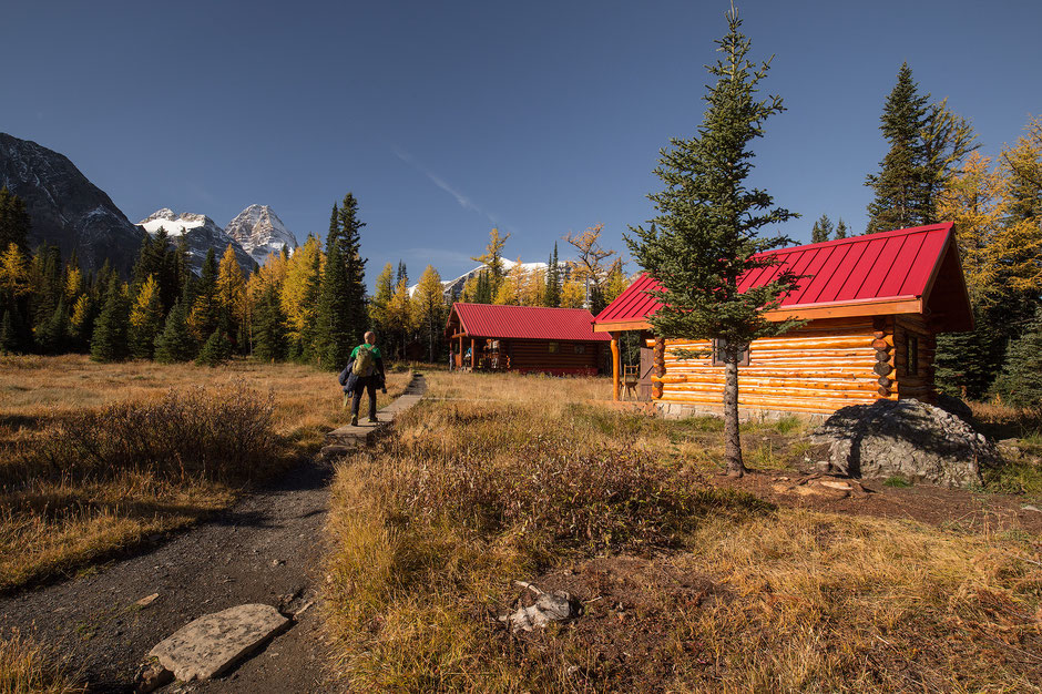 Naiset Huts in Mount Assiniboine Provincial Park