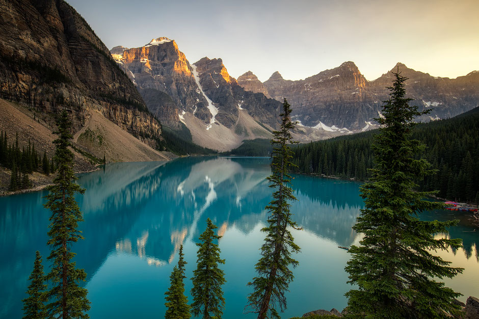 Moraine lake - a must stop during road trip from Vancouver to Calgary