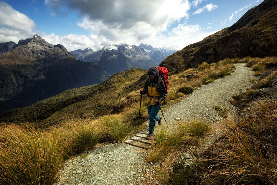 The Darran Mountains on the Routeburn Track in New Zealand