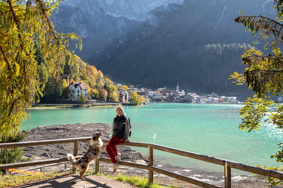 Alleghe with Monte Civetta in the background - Italian Dolomites