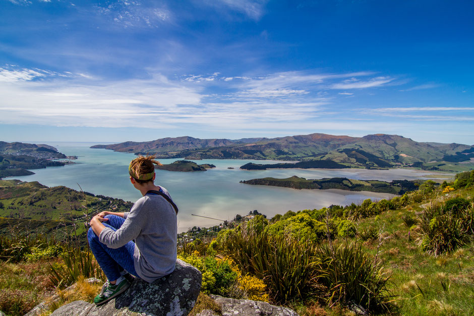 Akaroa Peninsula New Zealand.