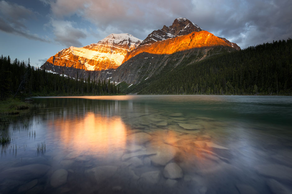 Lake Edith Cavell. Best hikes in Jasper National Park