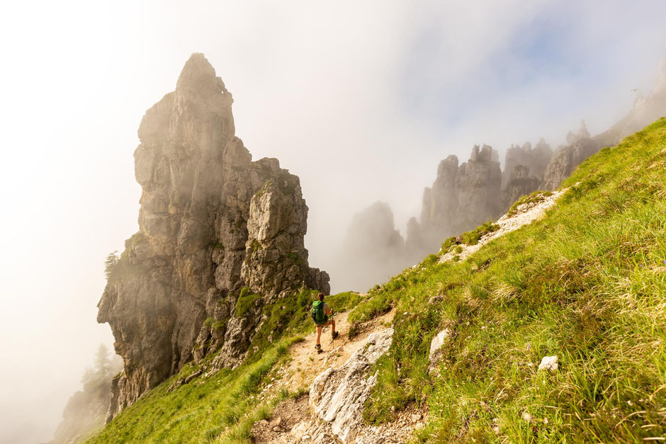 Day 11 on Alta Via 2: the stage between Rifugio Treviso and Passo Cereda