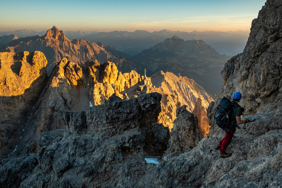 Information about the via ferrata Marino Bianchi in the Italian Dolomites