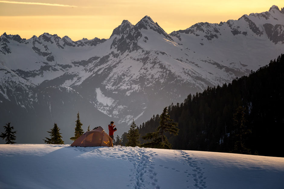 A Backcountry Campsite in Garibaldi Provincial Park in Canada