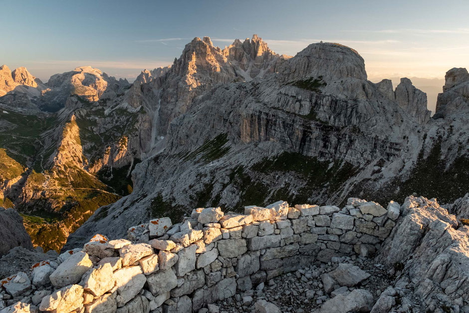 The remains of the World War I trenches in the Tre Cime National Park