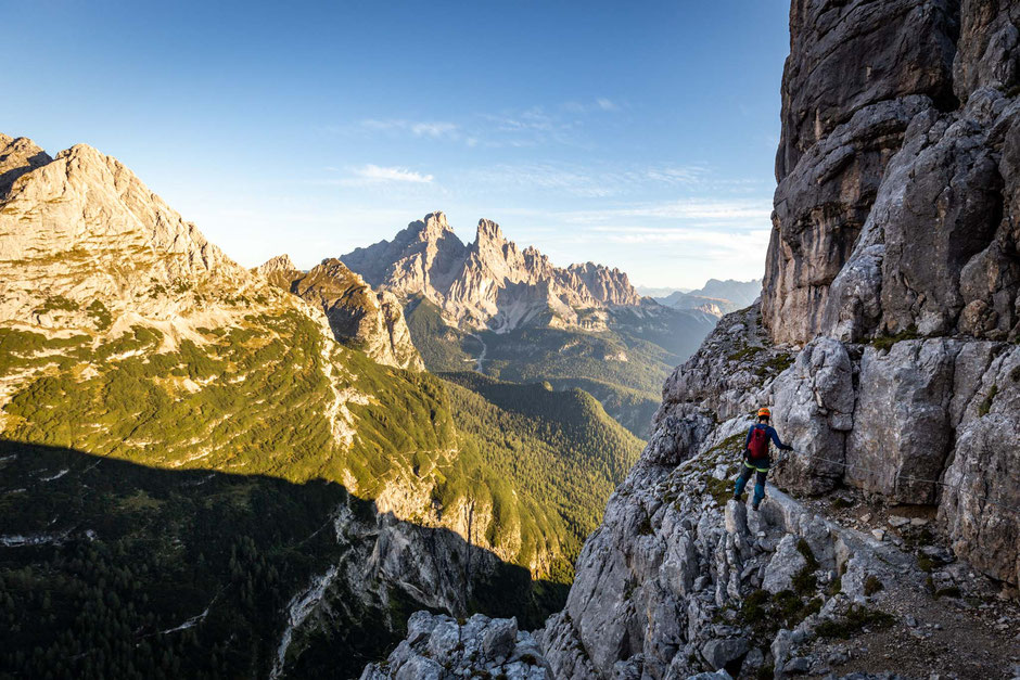 Via ferrata Giro del Sorapiss - one of the best intermediate level via ferratas in the Italian Dolomites