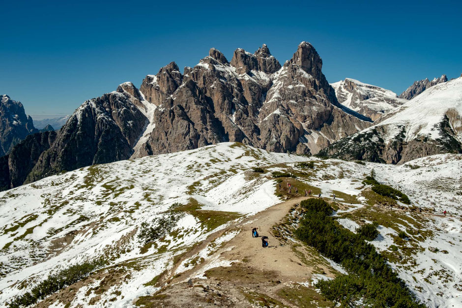 Forcella del Col de Mèdo. The last landmark along the Tre Cime circuit