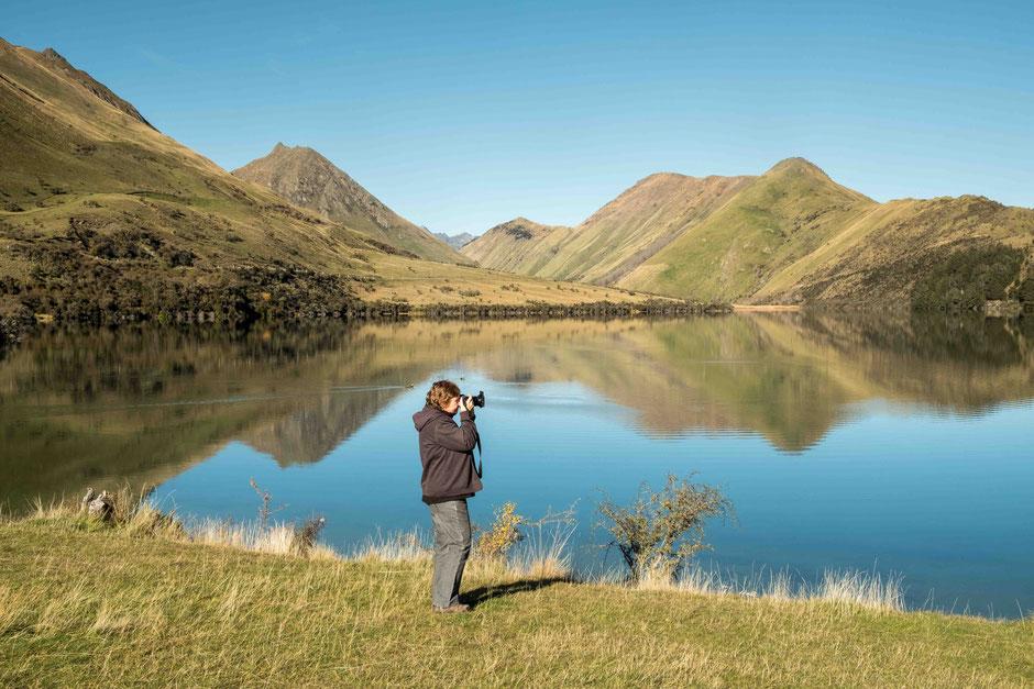 Moke Lake near Queenstown, New Zealand