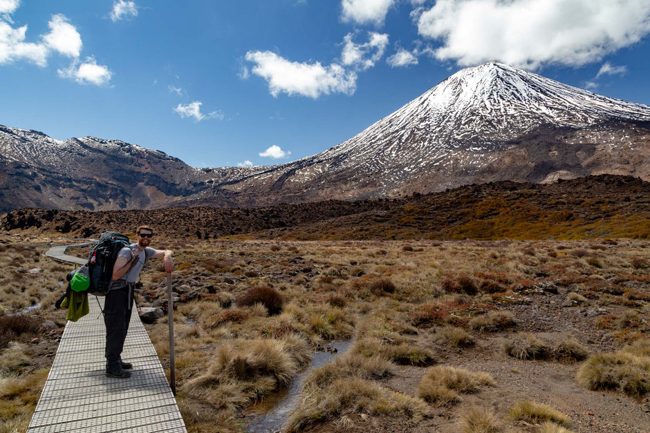 Mount Ngauruhoe on the Tongariro Crossing - One of the Great Walks in New Zealand