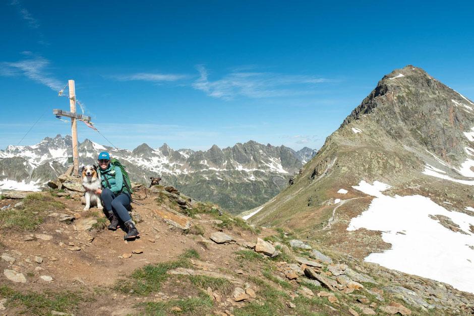 Hiking near Bielerhöhe pass in Austria