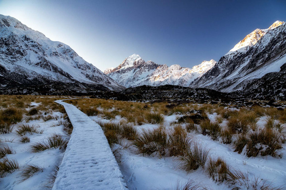 Hooker Valley Track in Winter