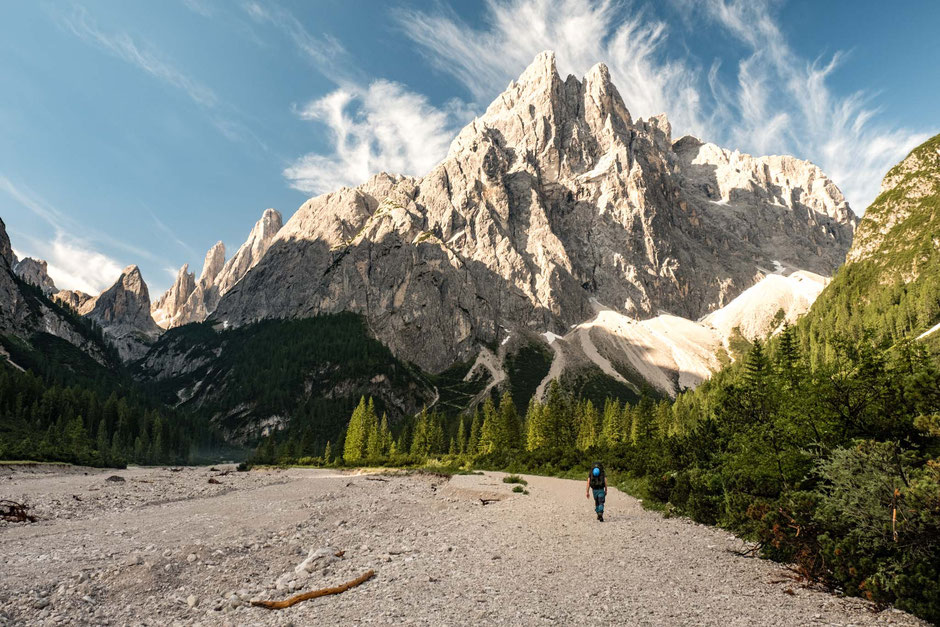 Cima Una in the Ficalina Valley in the Italian Dolomites