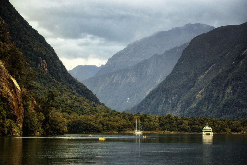 Milford Sound on the overnight cruise experience with Fiordland Discovery