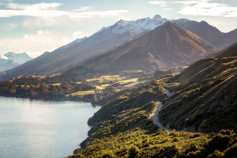 Queenstown - Glenorchy scenic drive.