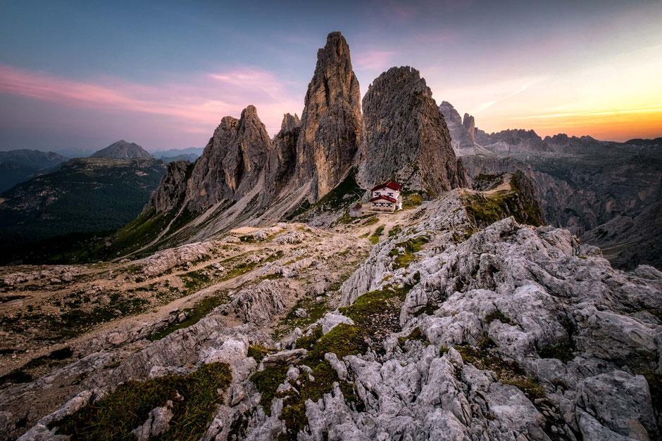 Rifugio Fonda Savio in the Italian Dolomites