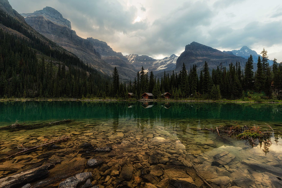 The Lake O'Hara Lakeside Cabins - An overnight backpacking experience at Lake O'Hara