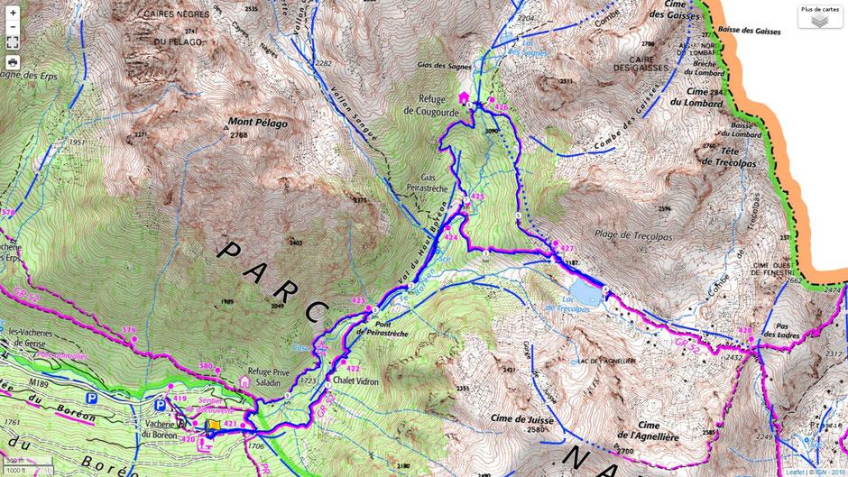 randonnée lac de trecolpas