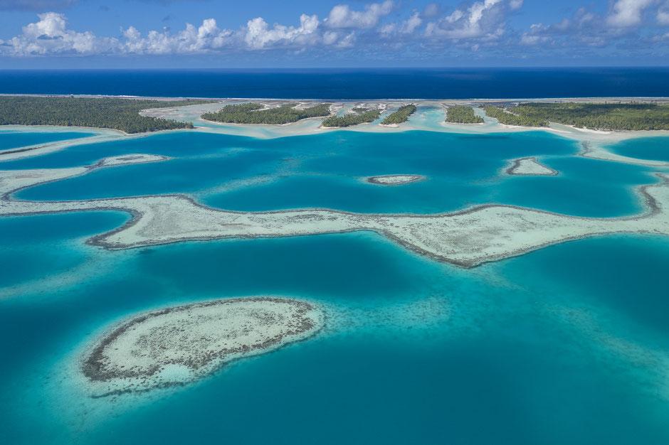 atoll Mataiva vu d'en haut