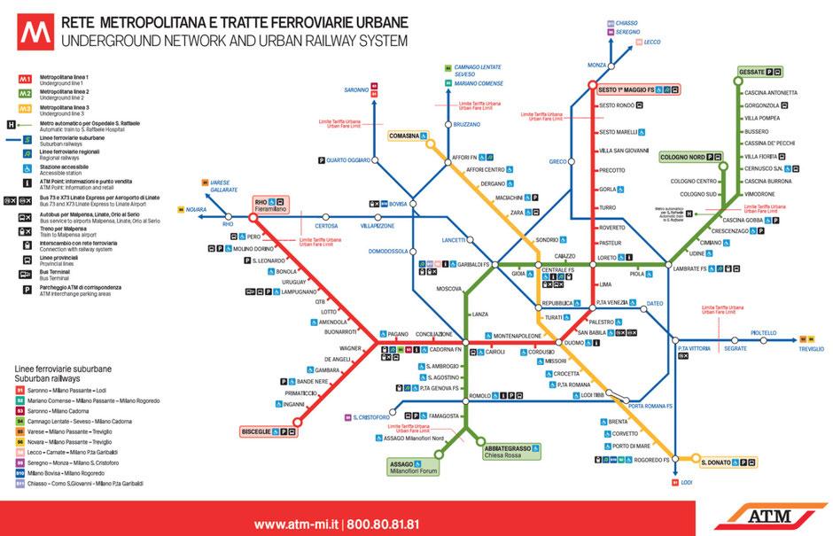 plan métro milan