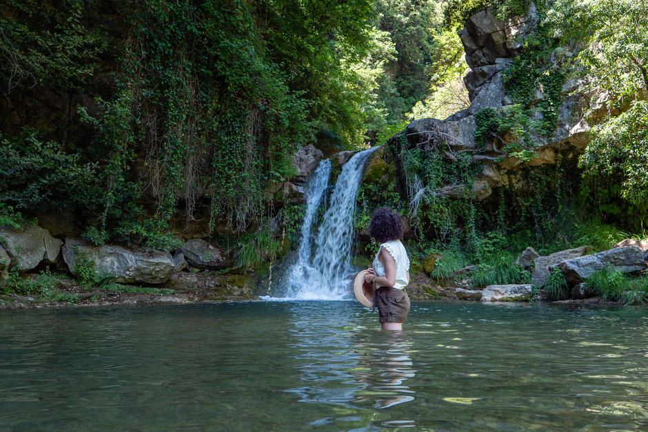 se baigner dans des vasques naturelles