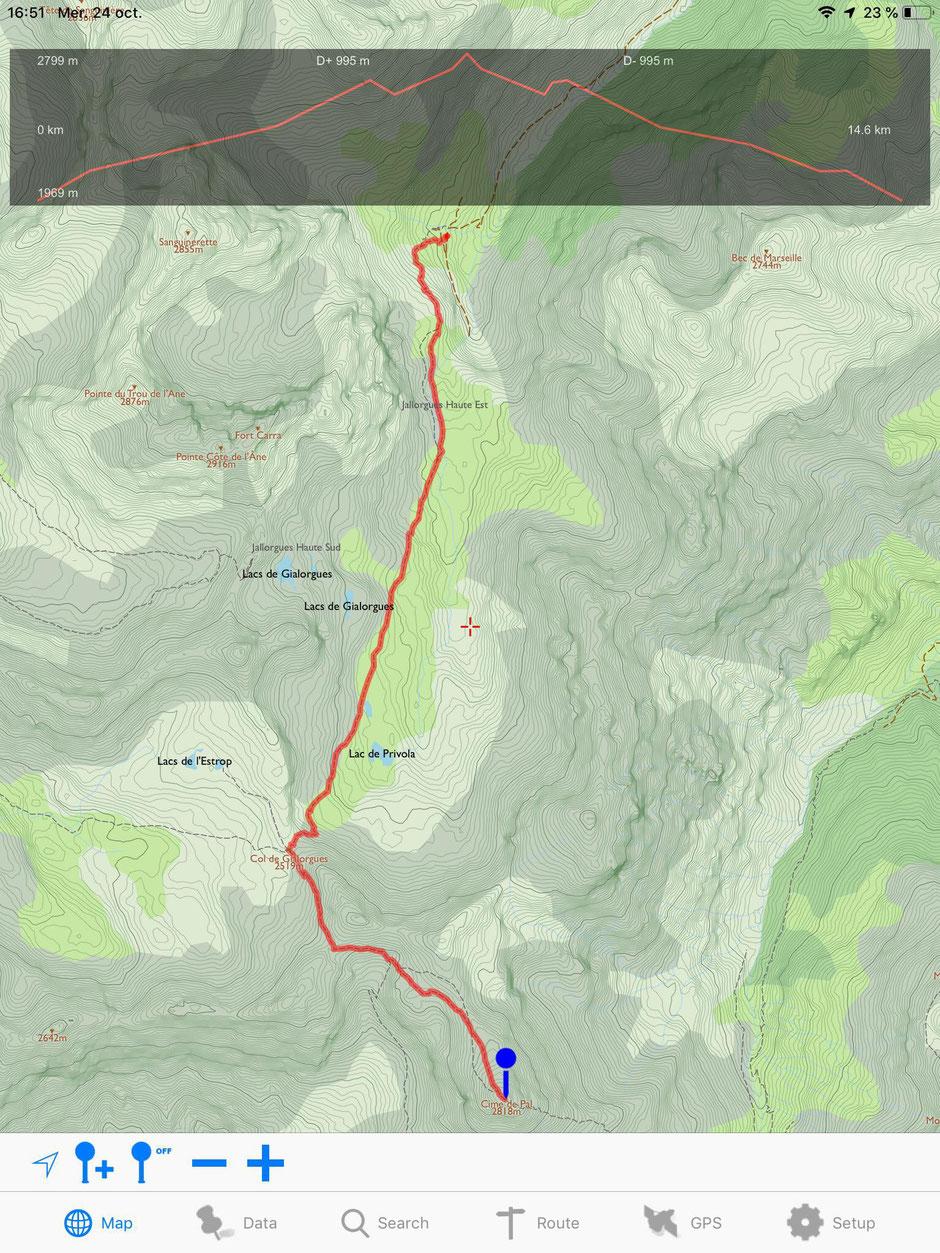 topo randonnée cime de pal