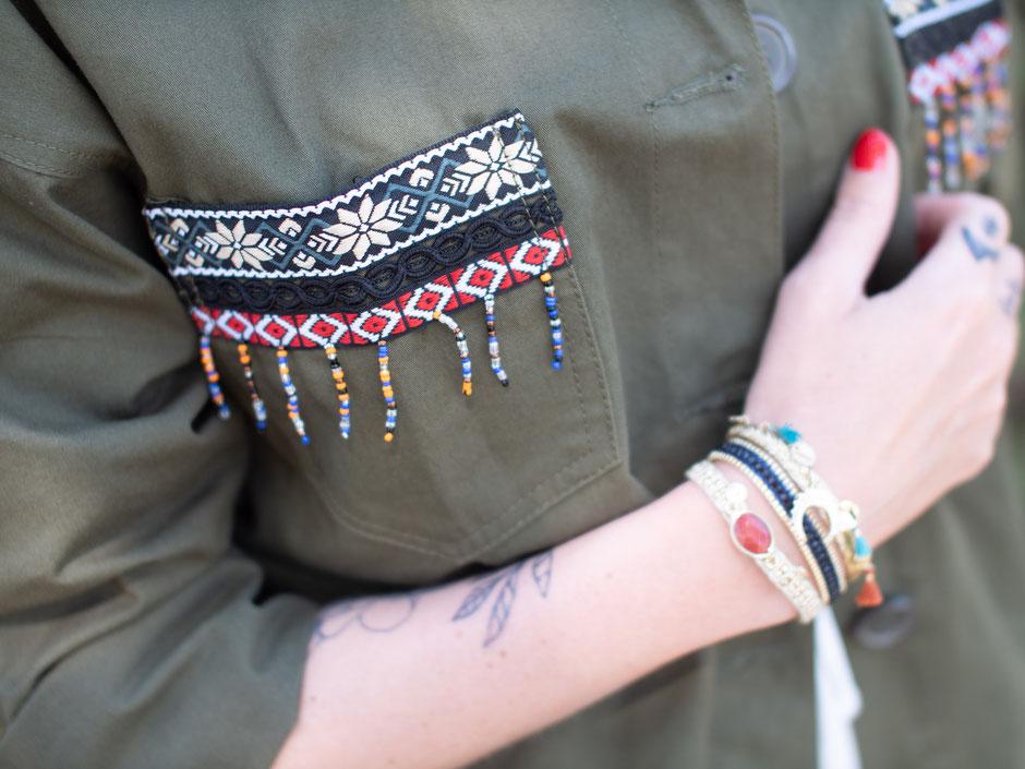 blog mode veste kaki femme