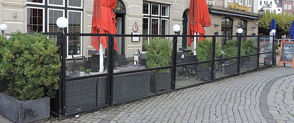 Windschutzanlage Lounge Terrasse