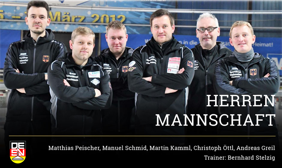Herrenmannschaft Eisstock WM 2018