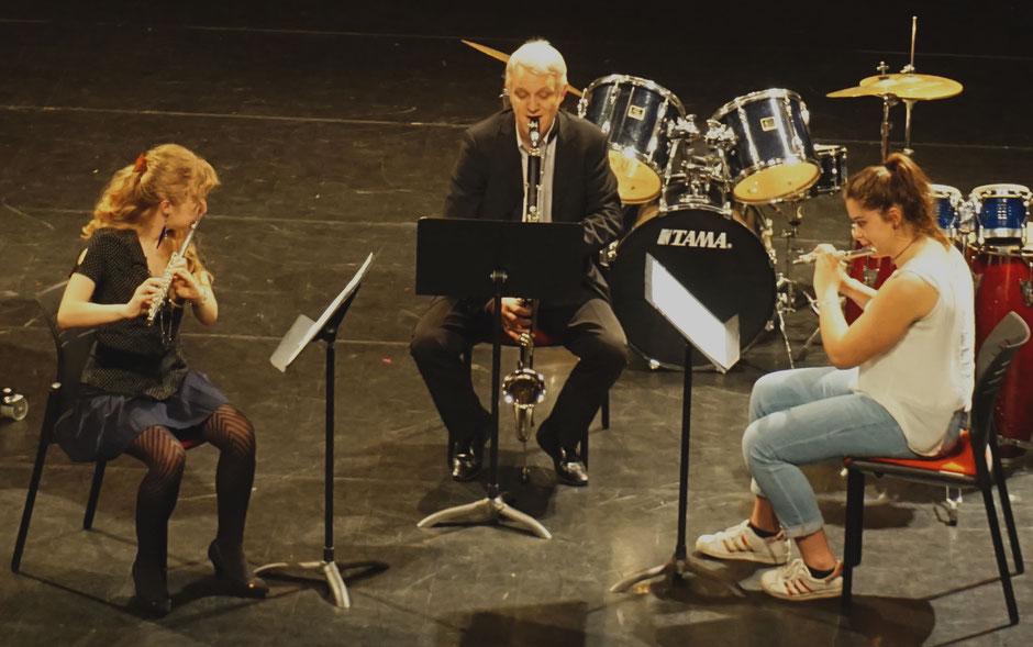 école de musique emc Crolles-gresivaudan : trio flûte + clarinette - grands élèves