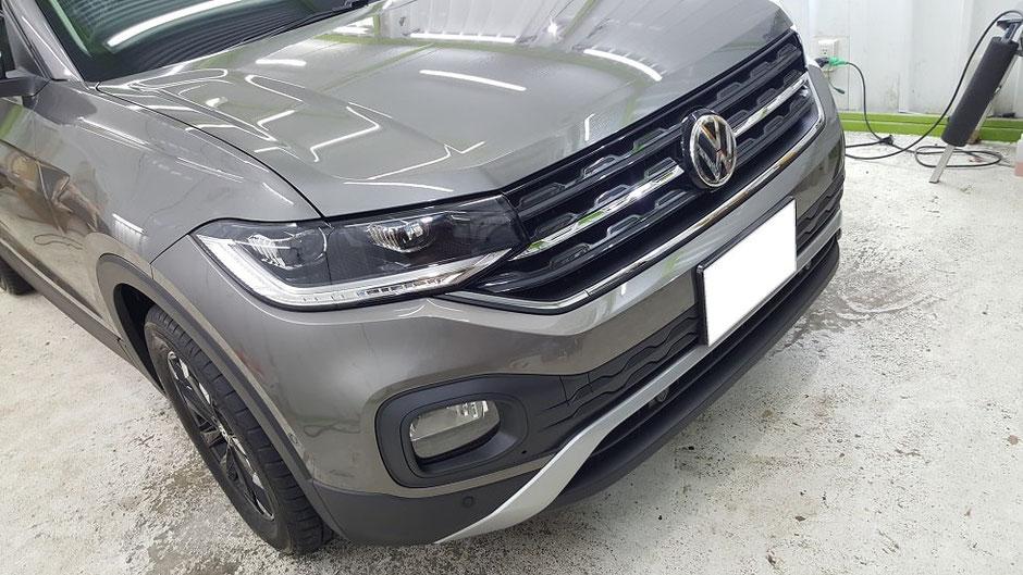 Tクロス 新車 ライムナノガラスコーティング ストーングレーメタリック 埼玉の車磨き専門店