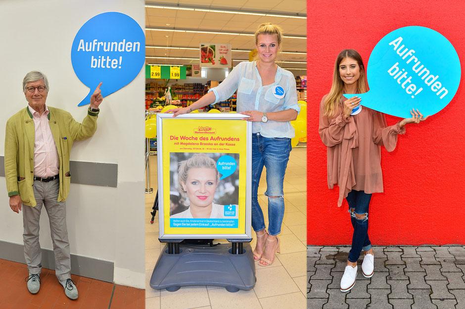 """""""Deutschland rundet auf!"""" mit Christian Wolff, Magdalena Brzeska und Cathy Hummels"""