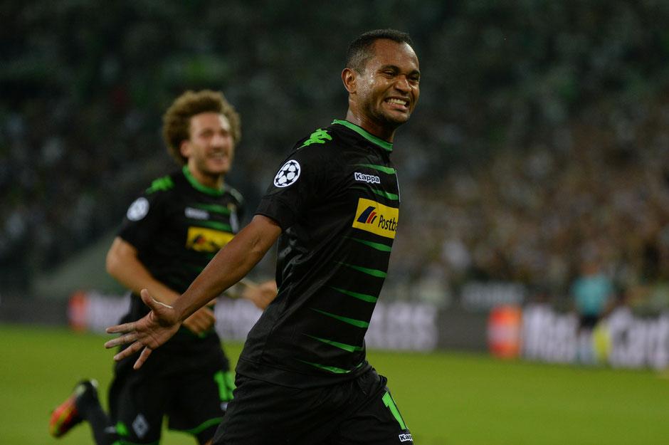 Der dreifache Torschütze Raffael beim Championsleague-Qualifikationsspiel von Borussia Mönchengladbach