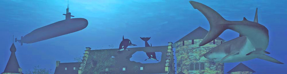 Ausschnitt aus dem Bild 'Unterwasserburg'