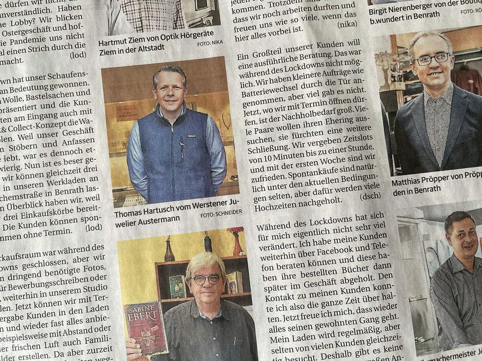 Zeitung Rheinische Post Juwelier Düsseldorf Austermann