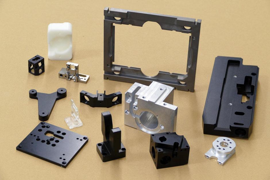Rogenmoser Feinmechanik Beispiele für CNC Frästeile aus Aluminium Stahl Kunsstoff