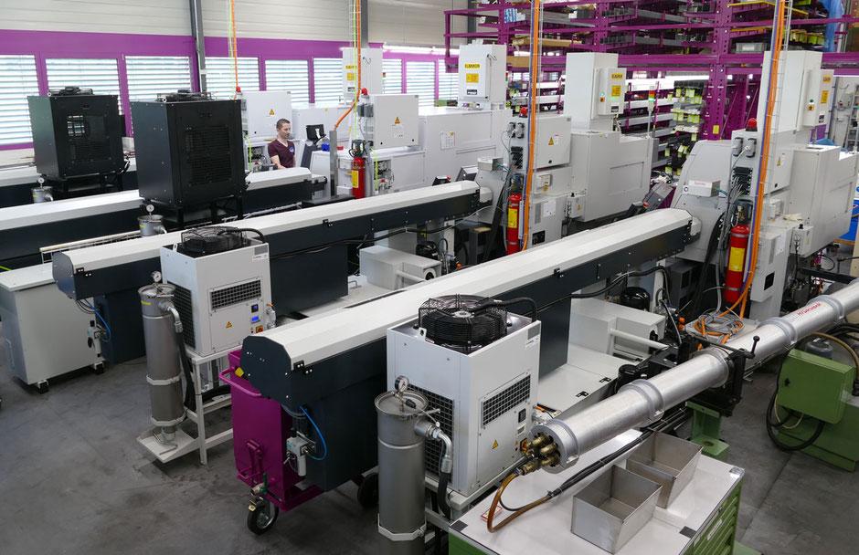 Rogenmoser CNC-Drehmaschinen, Décolletage bis 18 Achsen und Drehdurchlass bis 32 mm