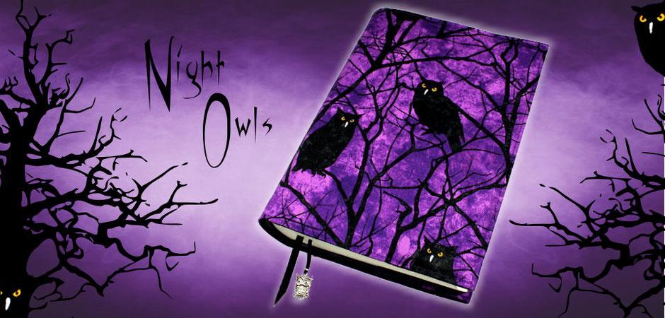 Night Owls - Buchhülle, Buchtasche und Federmäppchen im tollen Eulen-Design