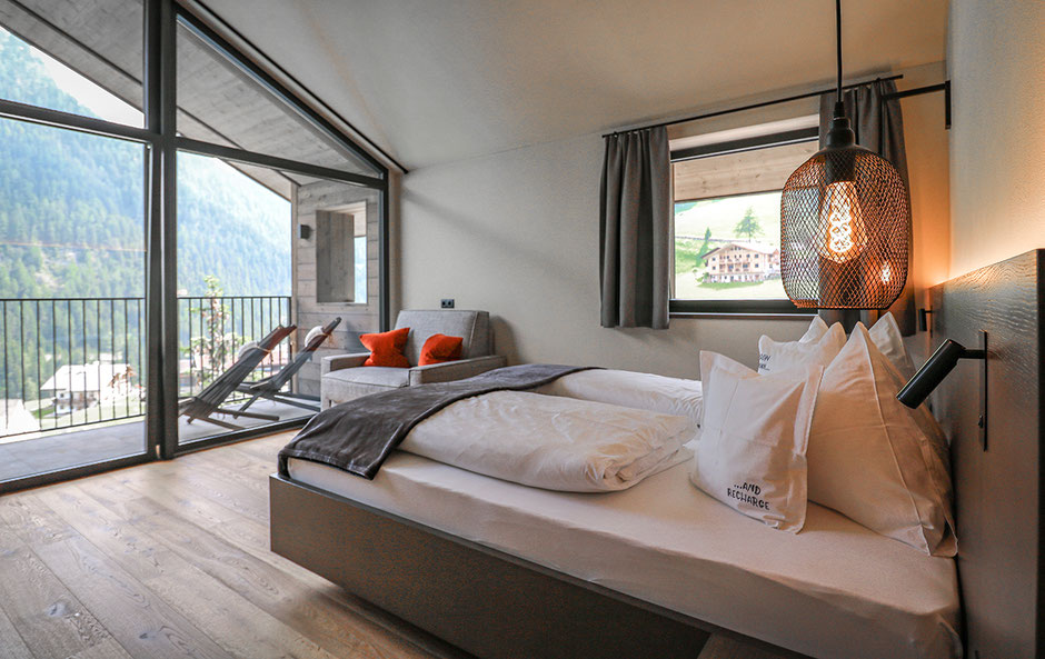 slow farm hotel Mea Via, Pufels, Grödnertal, Hotel in Südtirol, Bergurlaub mit Hund, Grand slow room Mea Via