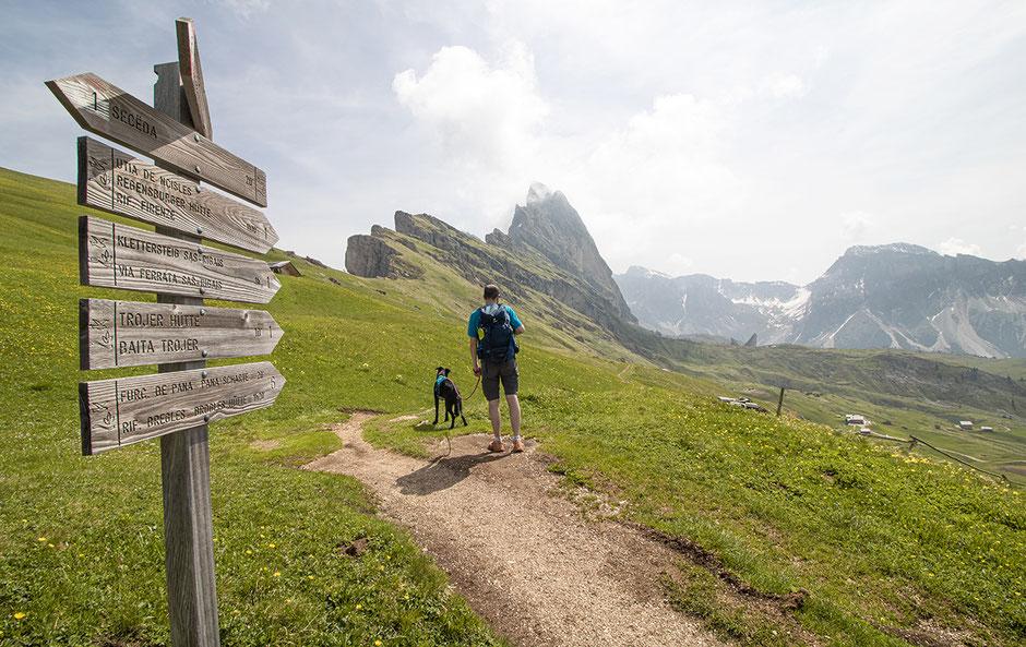 Seceda Wandern Südtirol Grödnertal