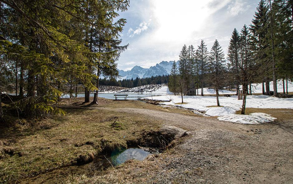 Wildensee am Kranzberg mit Blick in das Karwendel