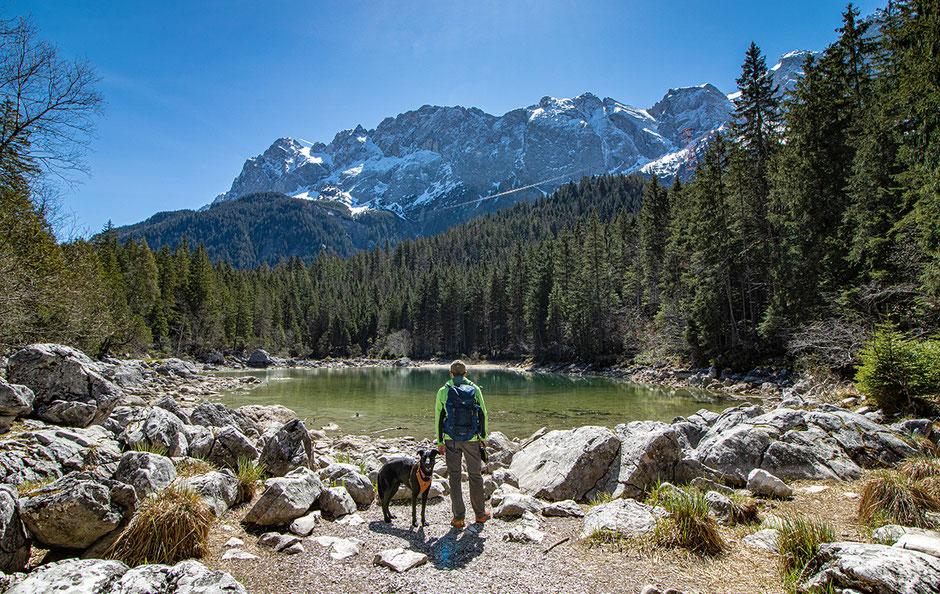 Eibsee Zugspitze Wandern in Bayern Eibseerundweg Frillensee