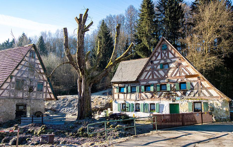 Fränkischer Baustil und Fachwerkhäuser, Wandern mit Hund, Urlaub mit Hund, Bergurlaub mit Hund, Wandern in Franken