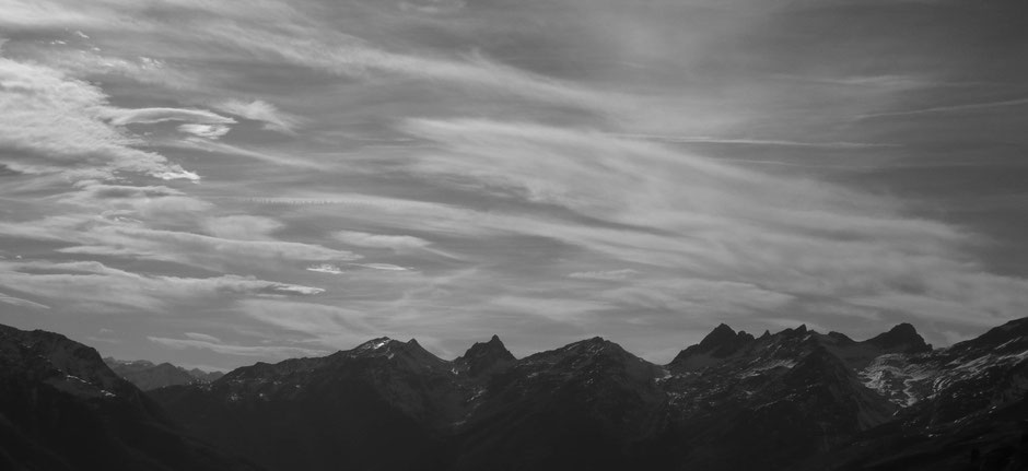 Blick auf die Rothörner im Westen des Lötschentales